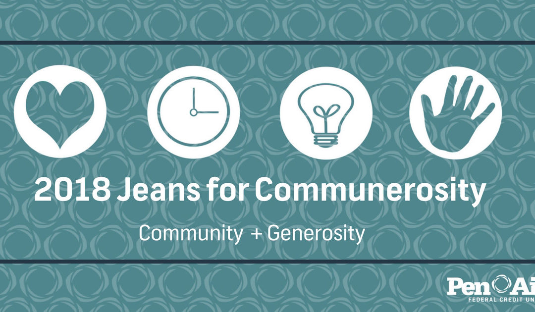 Announcing our 2018 Jeans for Communerosity Charities